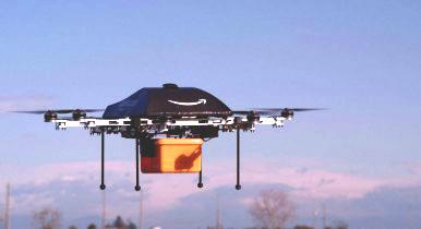 Службы доставки в америке начинают применять беспилотники